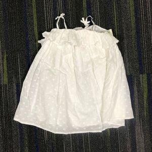 Genuine Kids by Osh Kosh White Dot Dress, NWT